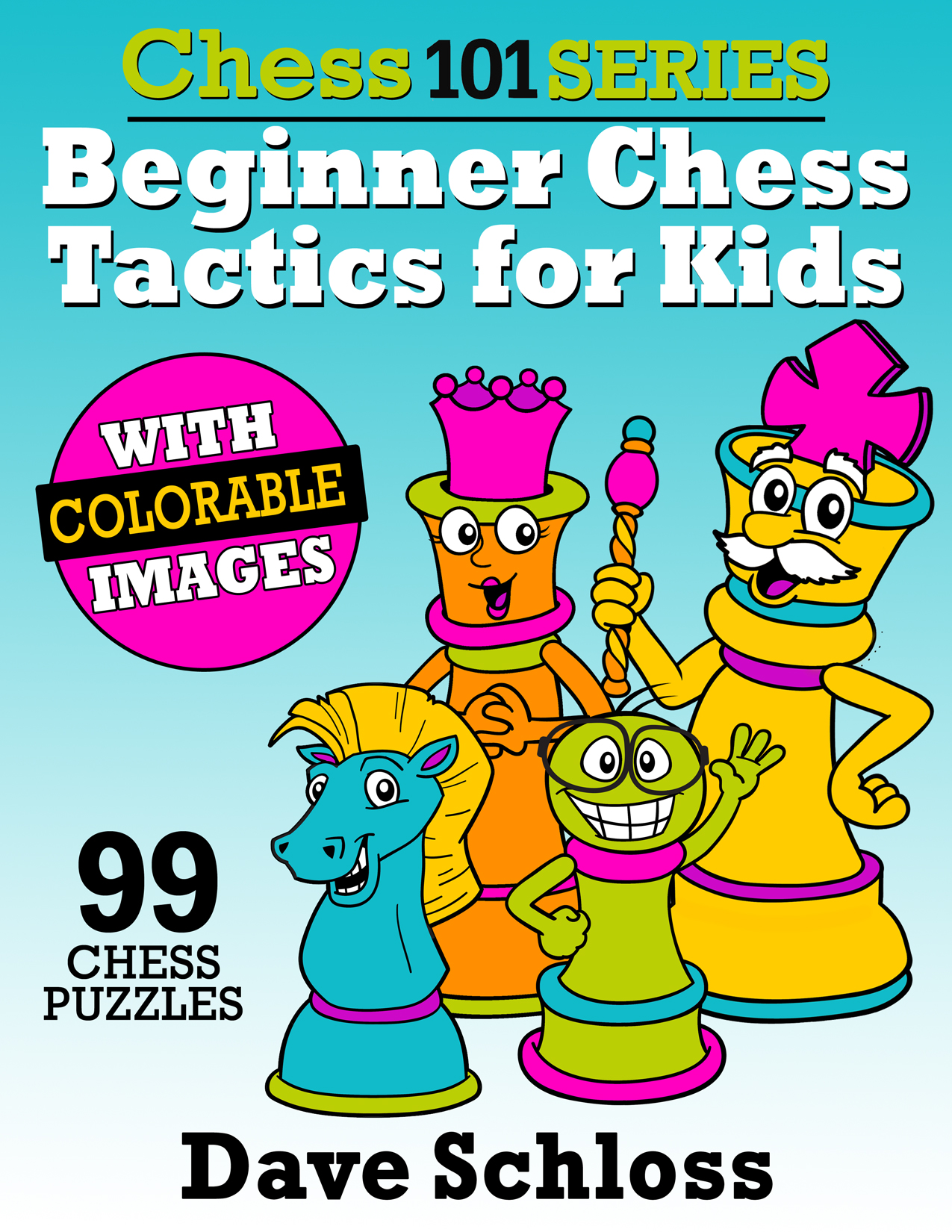 99 one-move chess tactics for kids rated at 1000 and below.