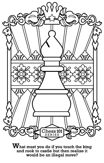 Rules Every Chess Player Needs to Know! colorable chess flash cards